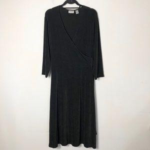 Chico's travelers women's black tie waist dress
